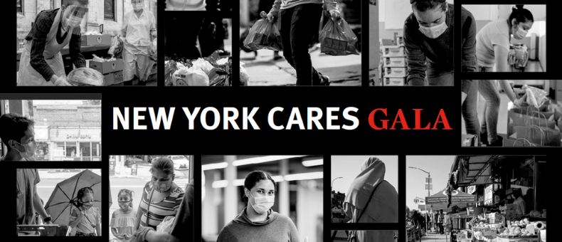 """Series of black and white photos of volunteers in action with """"New York Cares Gala"""""""