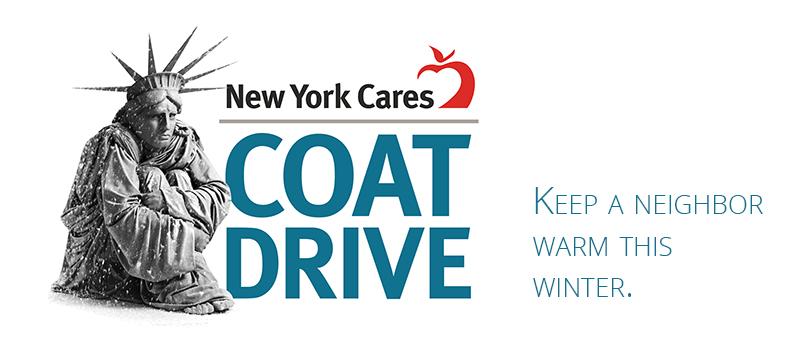 New York Cares Donate Coats Coat Drive Logo