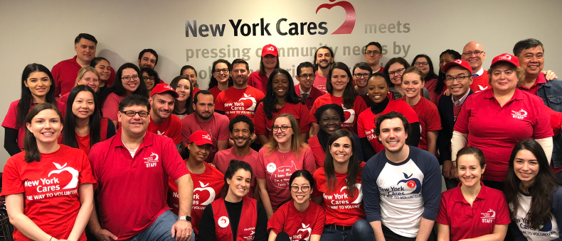 New York Cares Staff during National Volunteer Week 2018