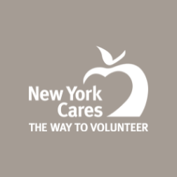 New York Cares logo on solid color background