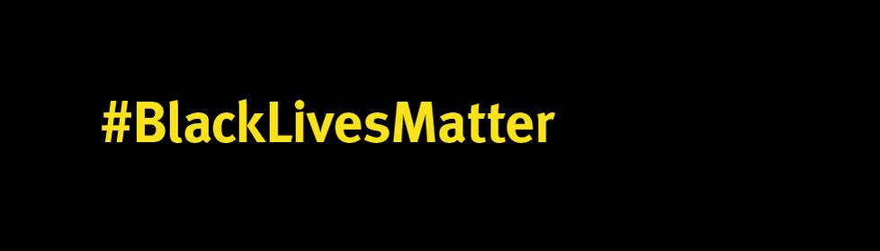 #BlackLivesMatter hashtag on black background